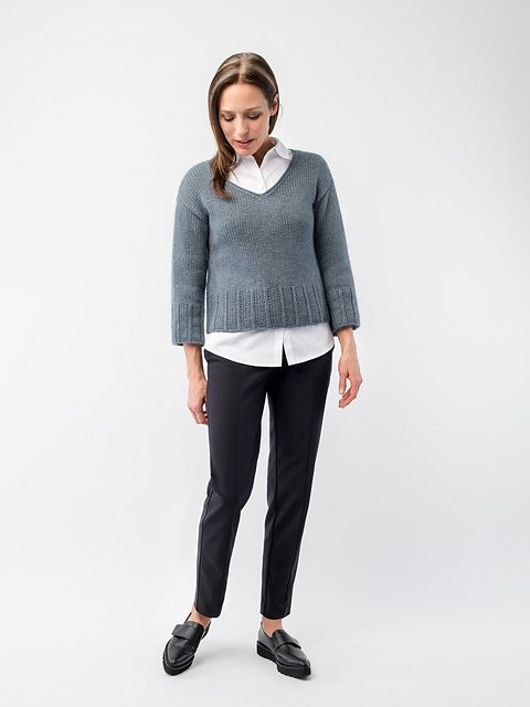 AVENUE V-Neck Pullover by Shellie Anderson