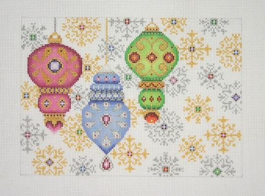 Christmas Pillow Ornaments & Snowflakes BB1302