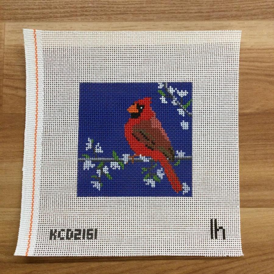 Cardinal on Blue
