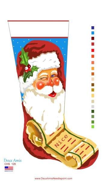 Santa & List Stocking