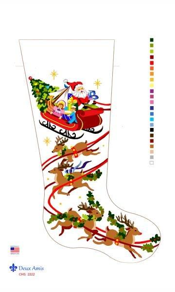 Santa & Sleigh Stocking