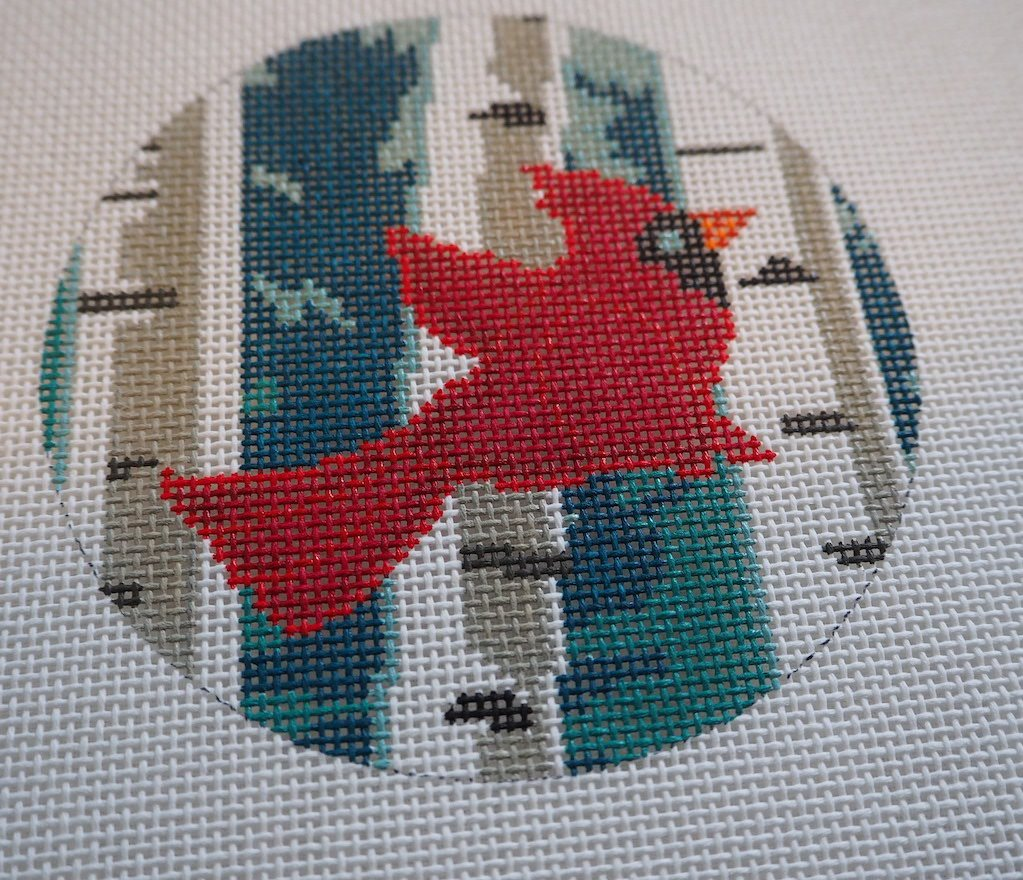 Cardinal in Birches Ornament