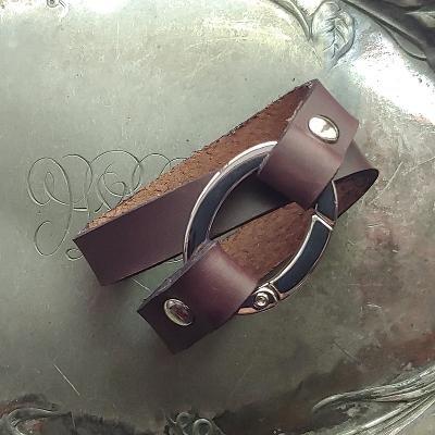 Flat Oval Ring Shawl Cuff
