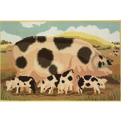 Gloucester Old Sow & Her Piglets Needlepoint Kit