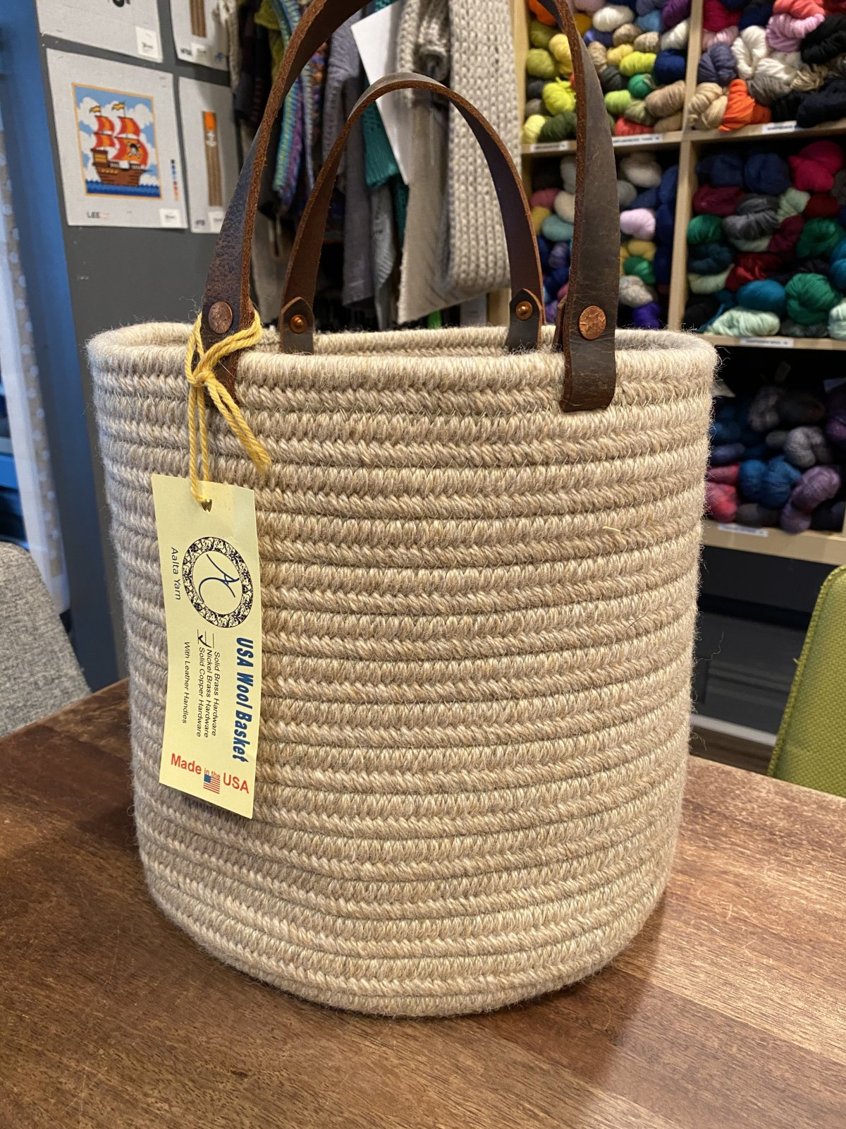 Aalta Wool Basket Large Taupe