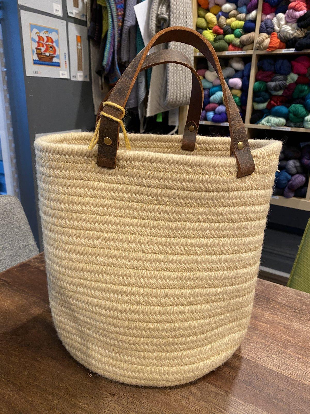 Aalta Wool Basket Large Cream