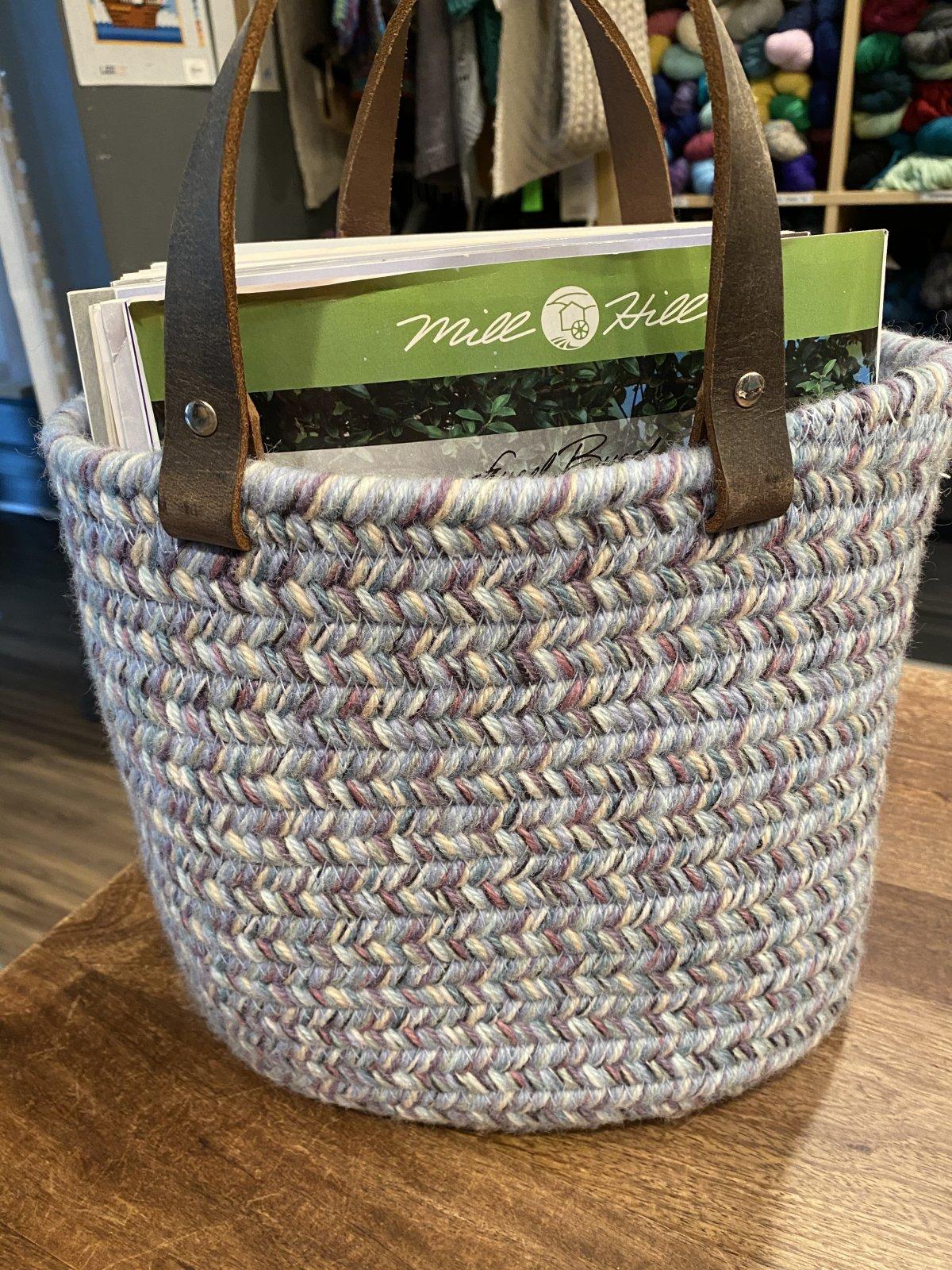 Aalta Wool Basket Small Blues