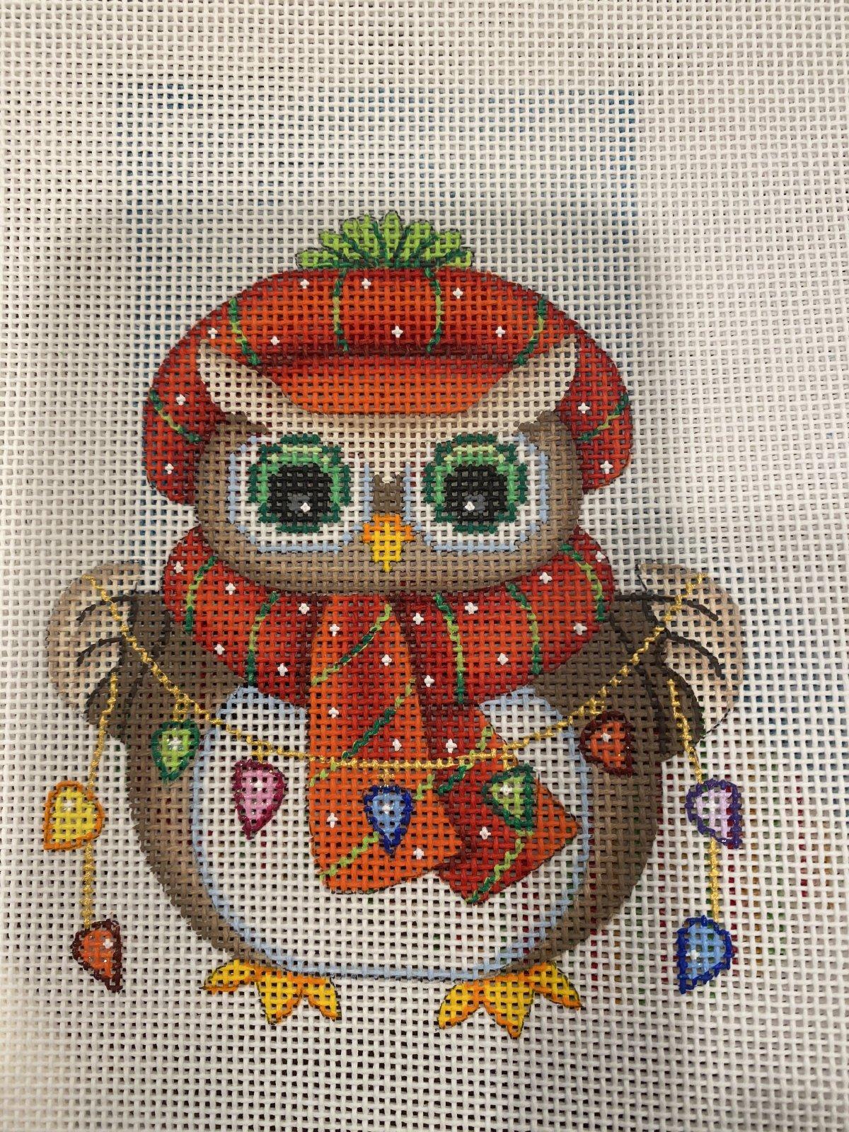 Mini Christmas Owl with Lights