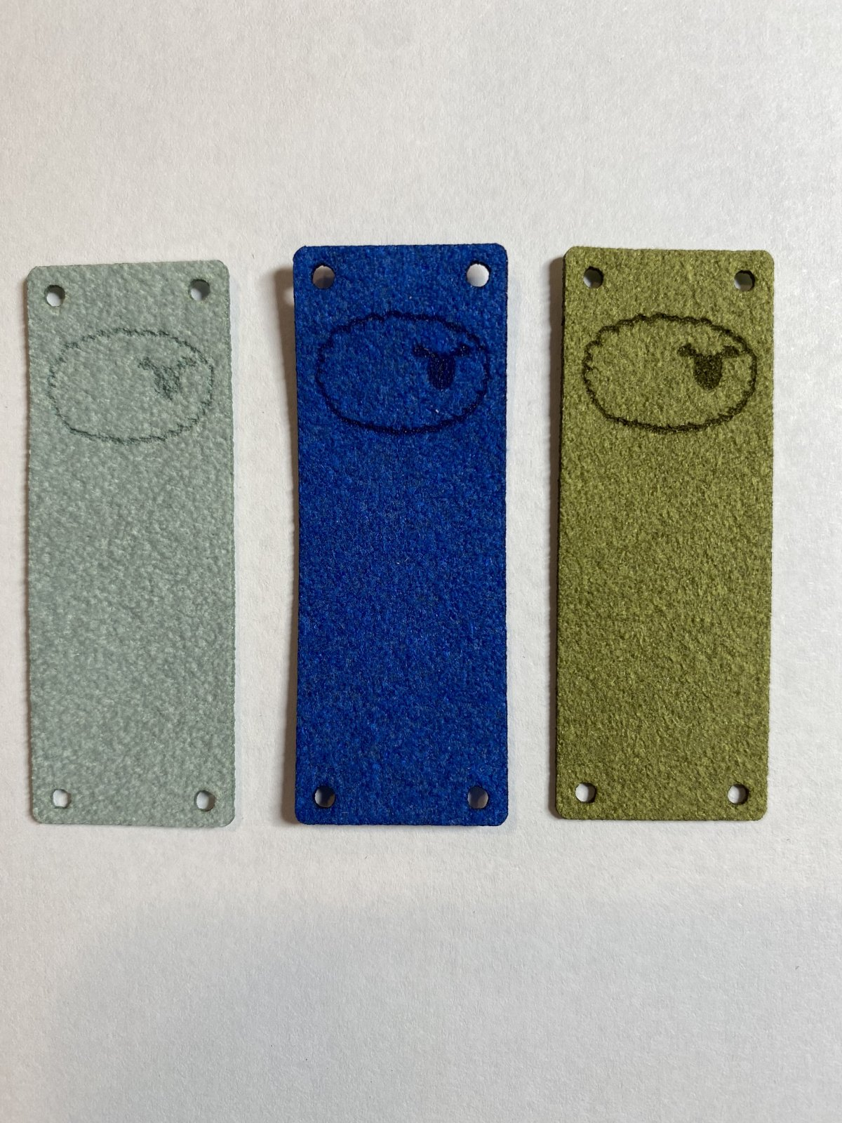 Faux Suede Sheep Fold Over Tag