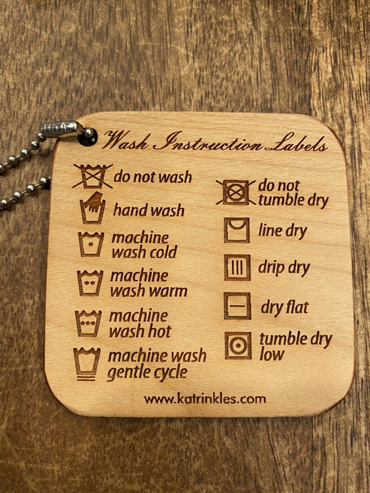 Washing Instruction Labels