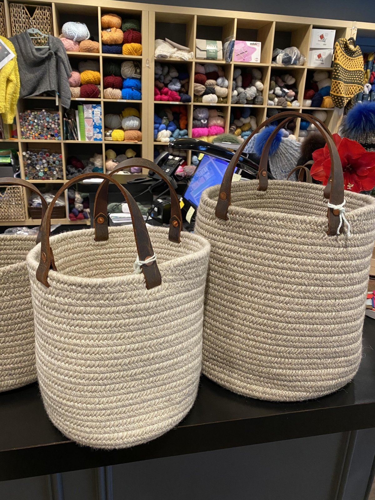 Aalta Wool Basket Taupe Collection