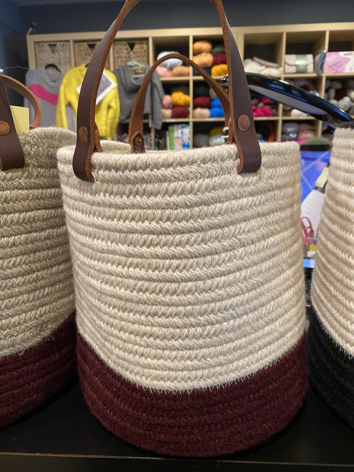 Aalta Wool Basket Two-Tone Collection