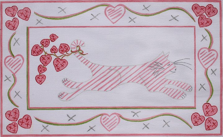 Running Kitty with Hearts RW-PL-02