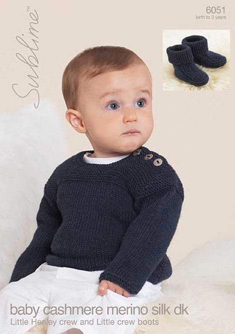 Little Henley Crew and Little Crew Boots, 6051