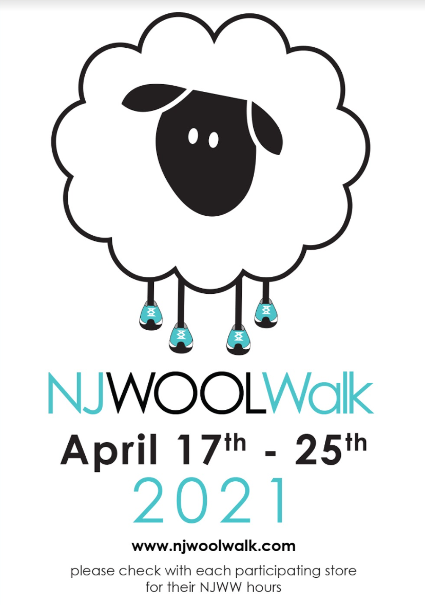 2021 NJ Wool Walk Passport + Stitch Marker