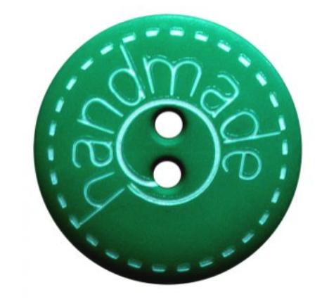 Handmade Button in Green