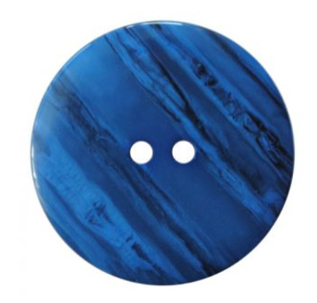 Polyester Woodlike Round Button