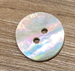 Mother of Pearl Button 15mm