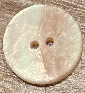 Beige Smooth Button Polyester