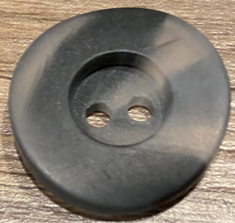 Polyester Button Black 25mm