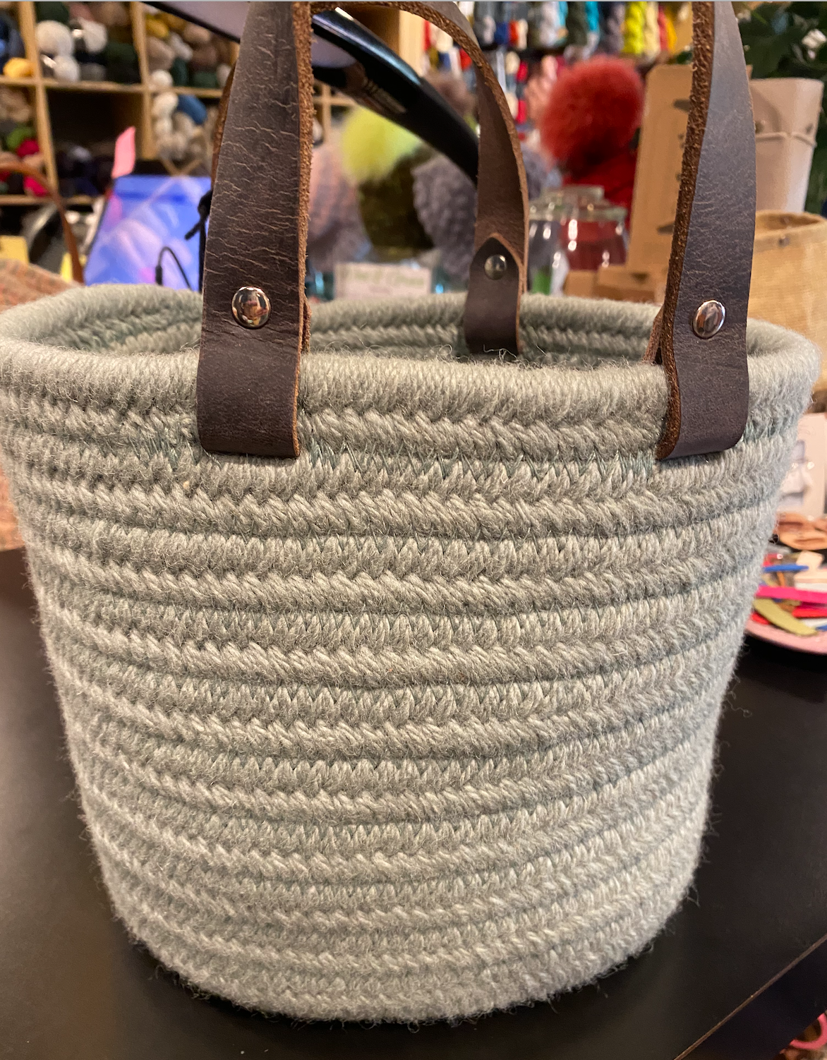 Aalta Wool Basket Sage Small