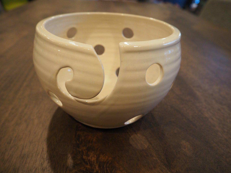 White Holey Yarn Bowl