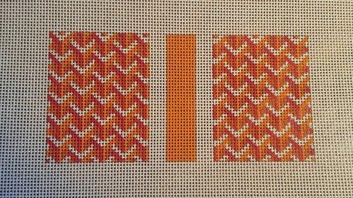 Y Pattern Eyeglass Case in Orange