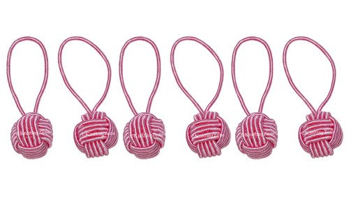 Pink Yarn Ball Stitch Markers