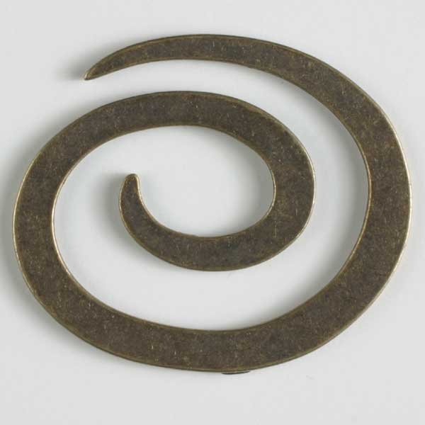 Dill #480907, Antique Brass Spiral Closure