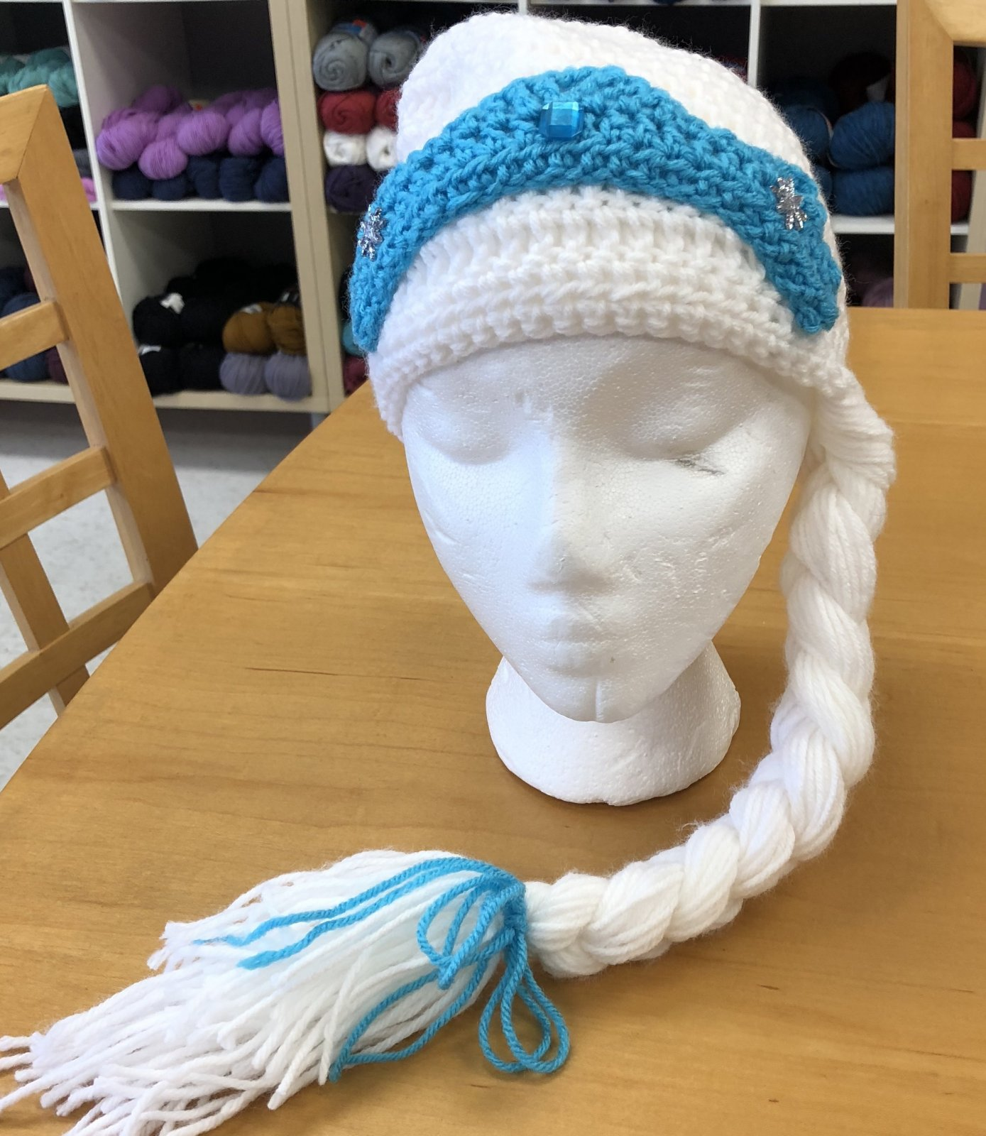 Crocheted Elsa Hat