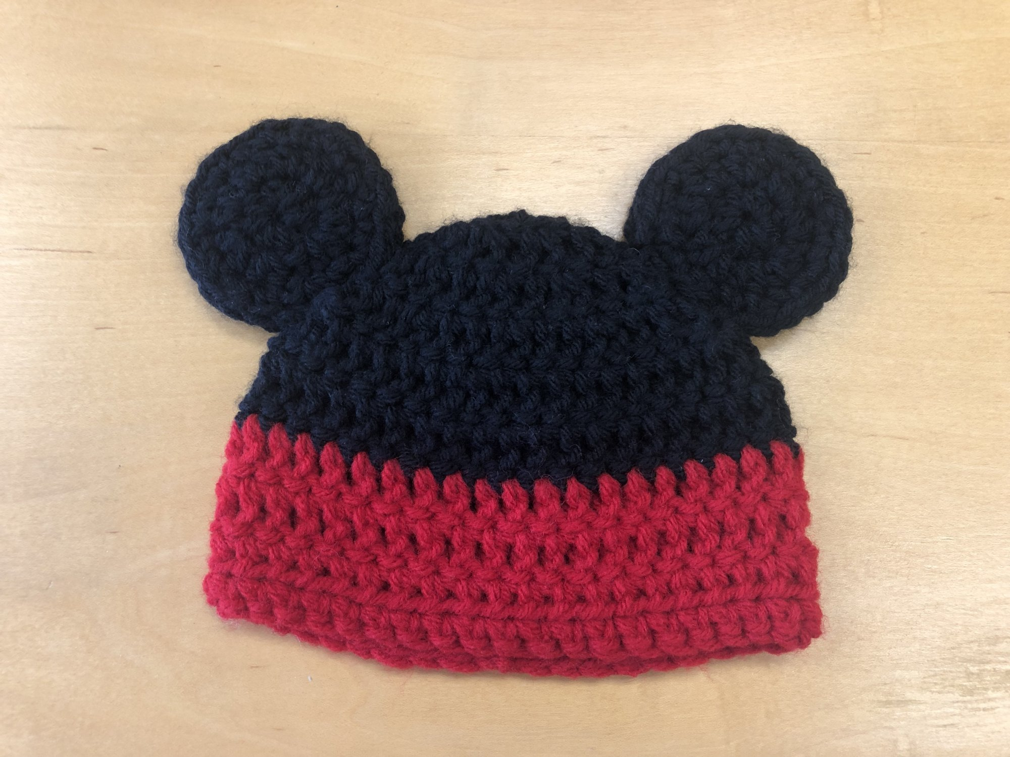 Crocheted Mickey Hat