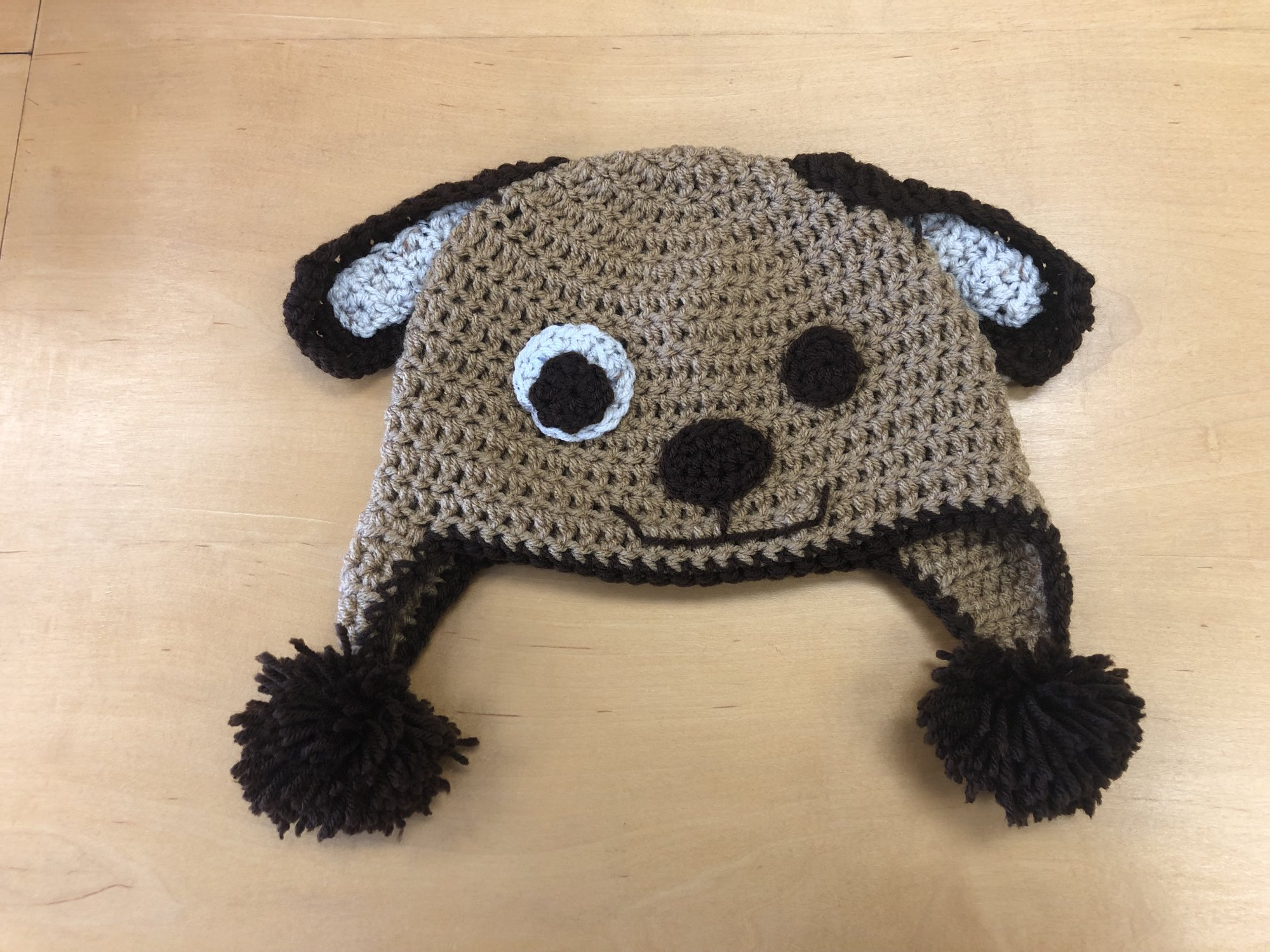 Crocheted Puppy Dog Hat