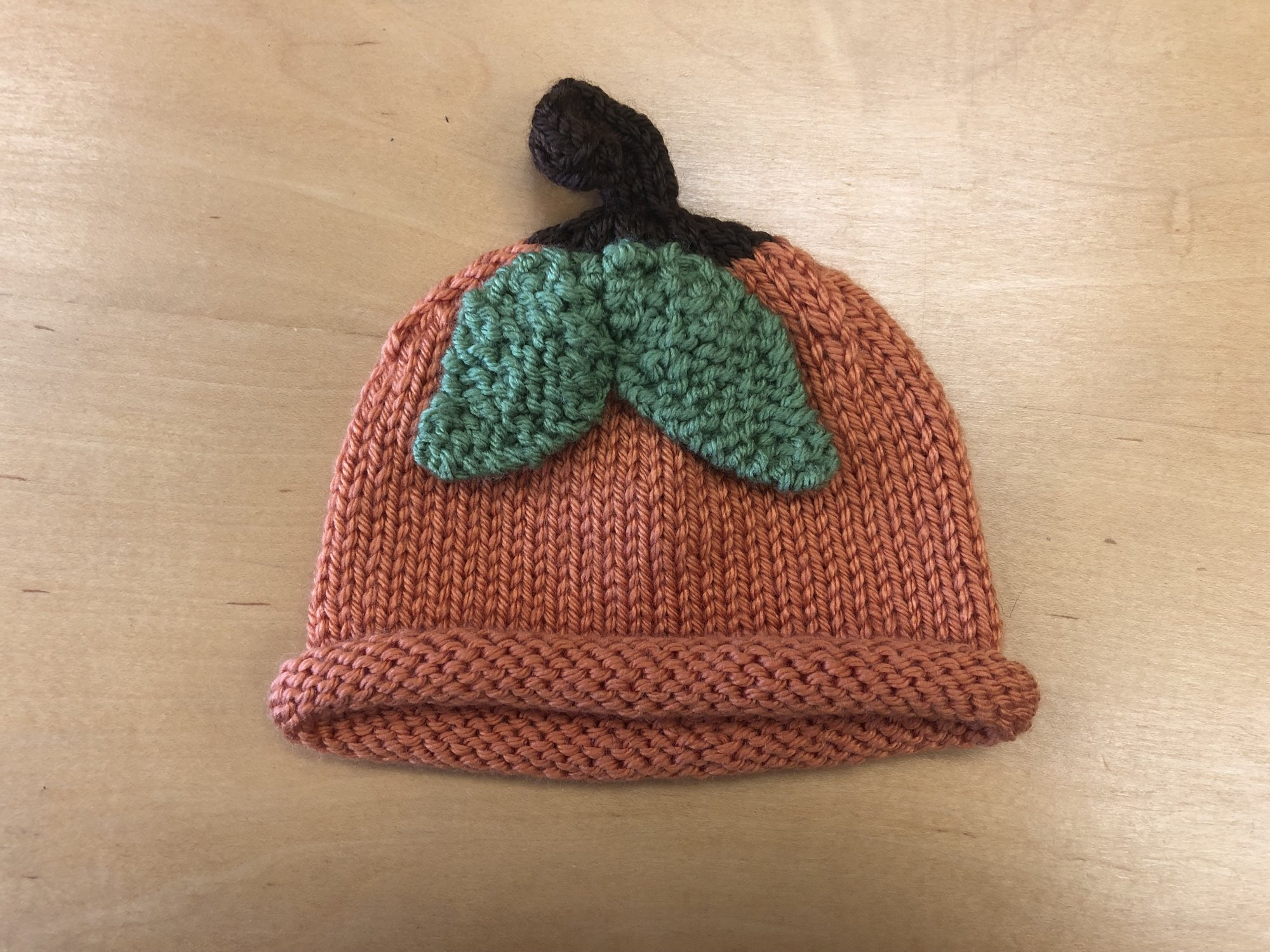 Knitted Pumpkin Hat