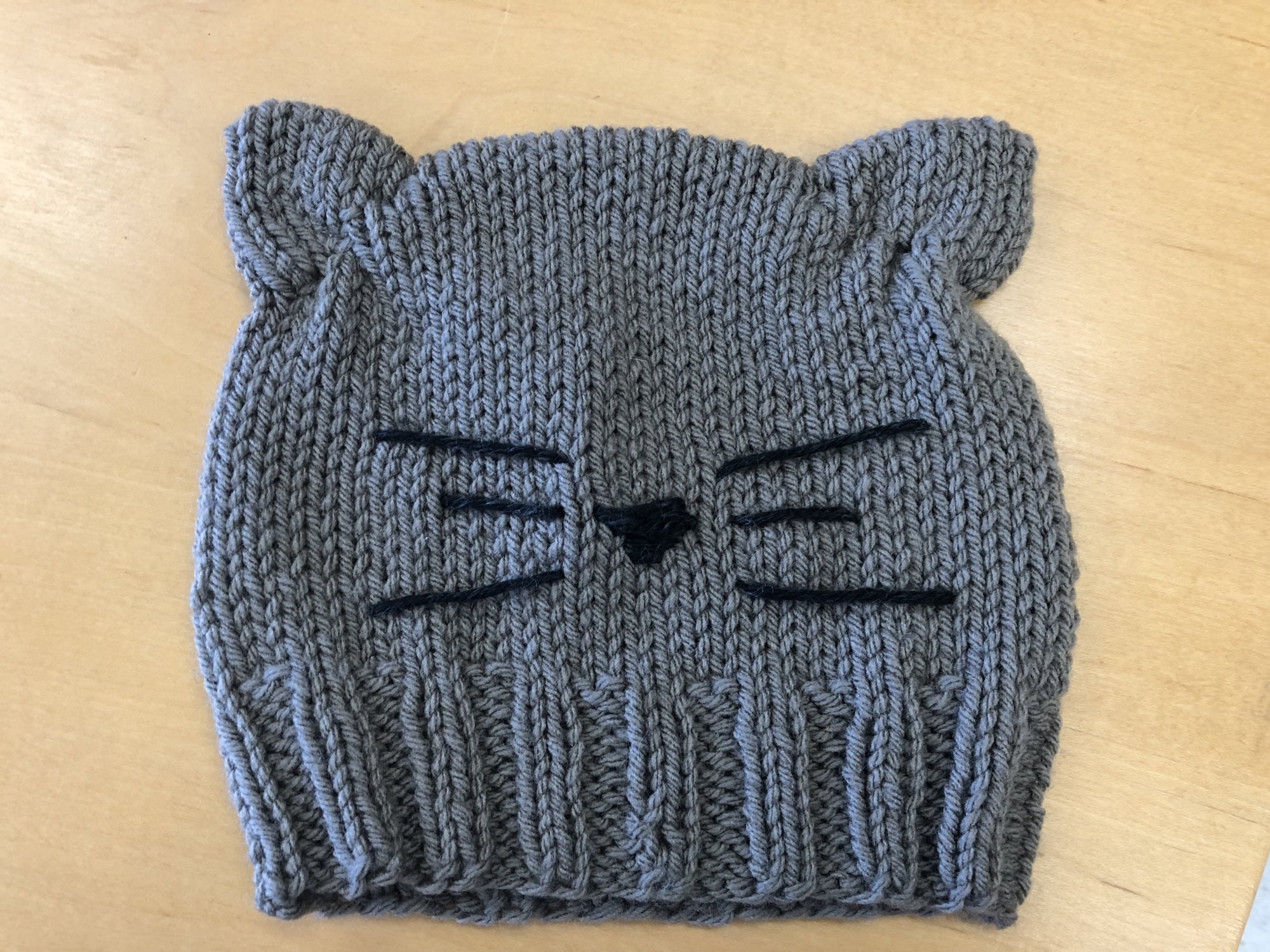 Knitted Kitty-Kat Hat
