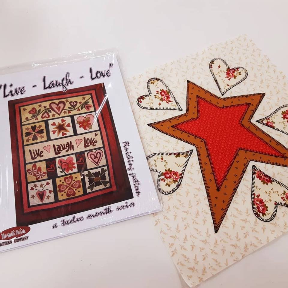 Block of Month Live Laugh Love:Pattern & Block 1