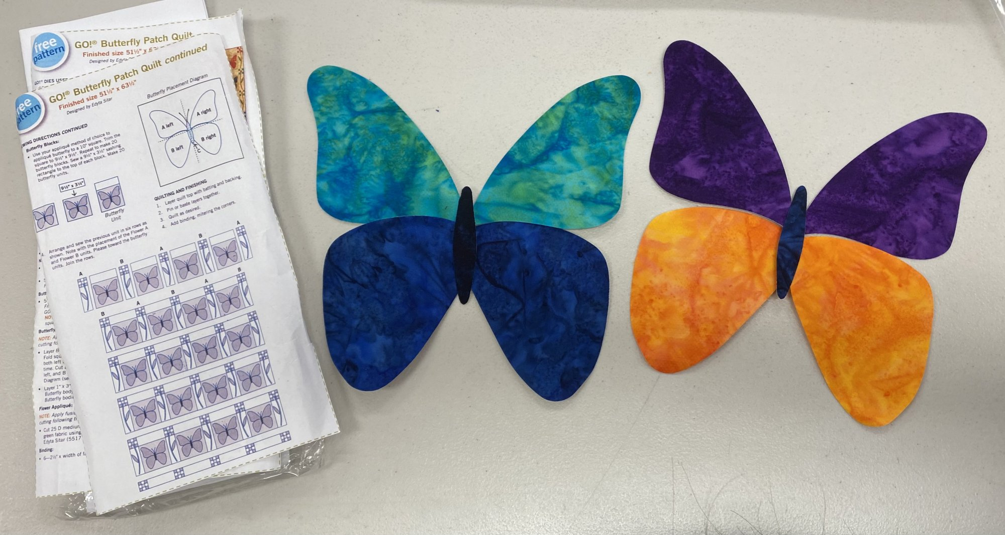 KIT Butterfly Accuquilt 'Go'