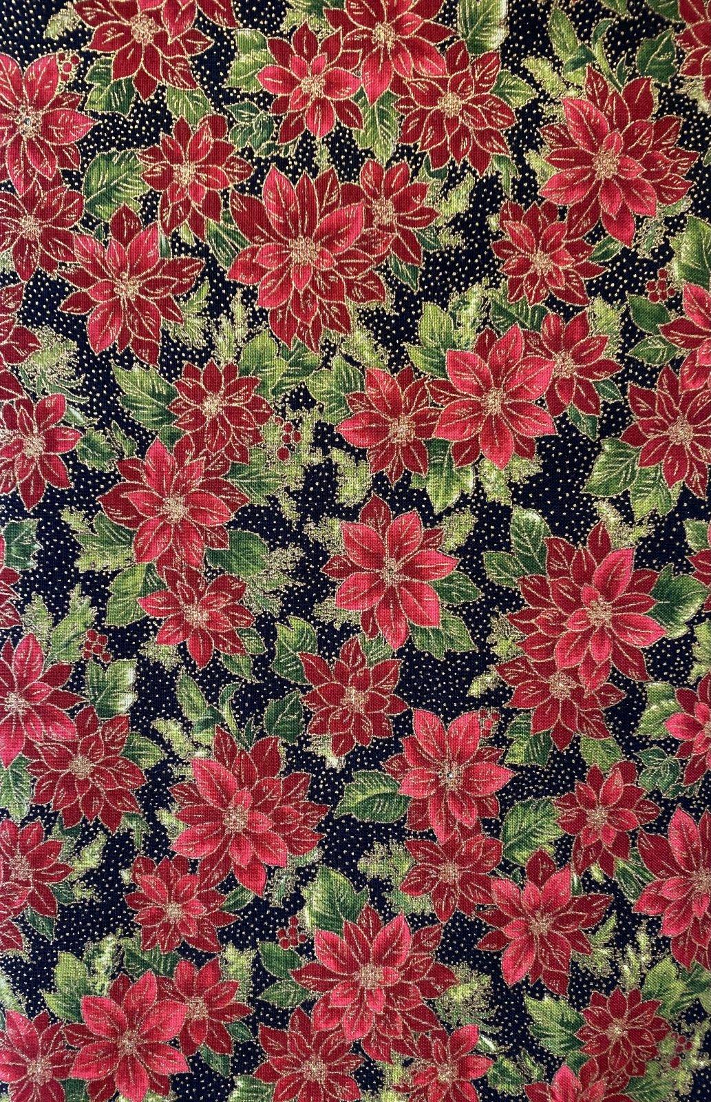 Poinsettias Pine Ebony