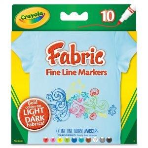 Crayola Fabric Fine Line Markers
