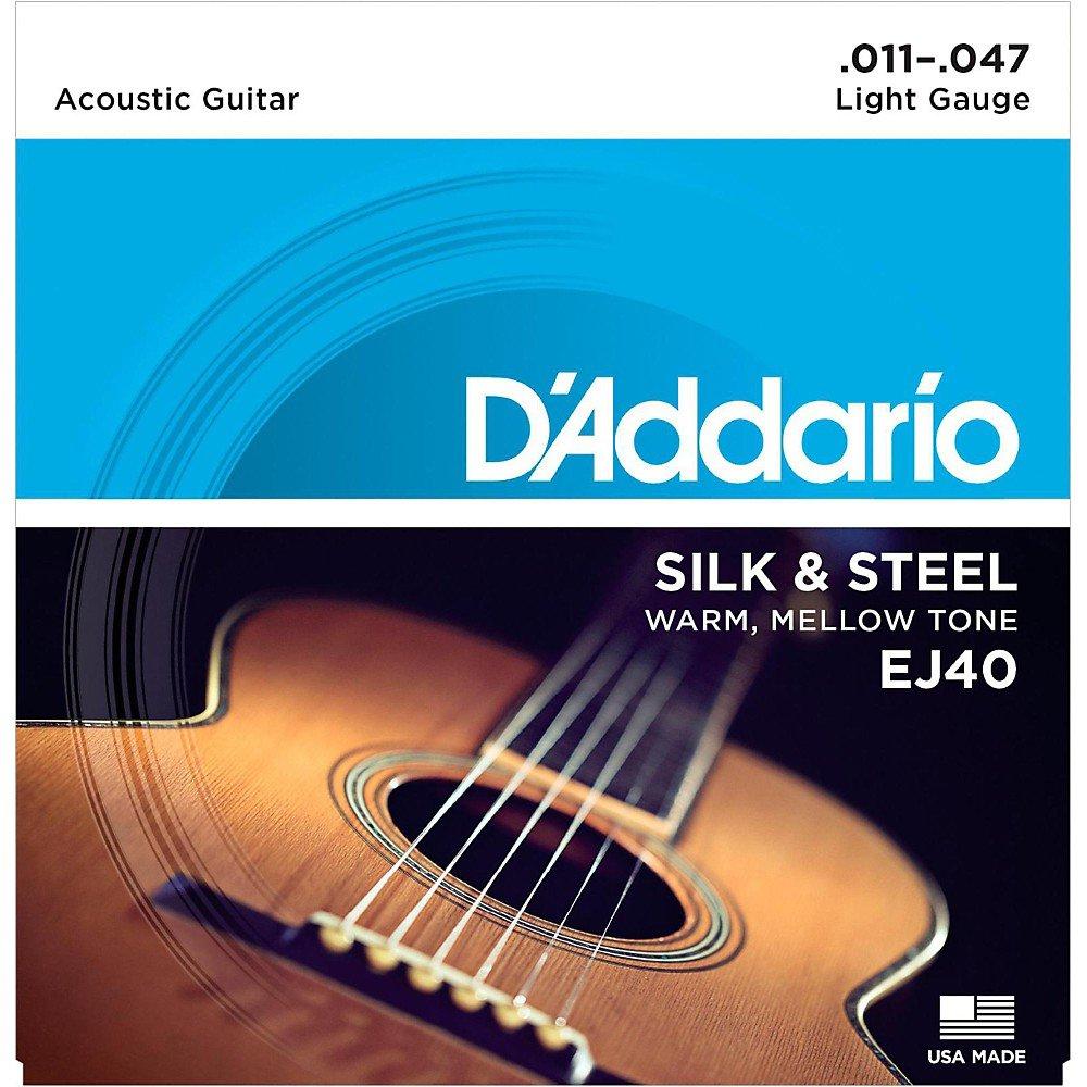 D'Addario EJ40 Silk & Steel Guitar Strings