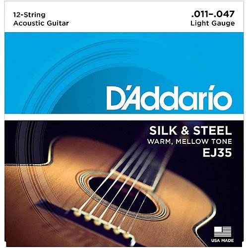 D'Addario EJ35 Silk & Steel 12-String Guitar Strings