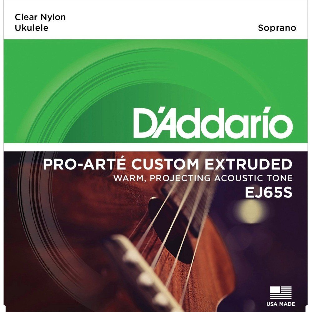 D'Addario EJ65S Pro Arte Custom Extruded Nylon Soprano Ukulele Strings