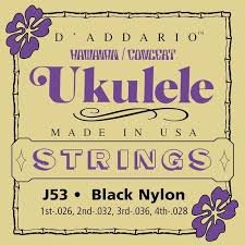 D'addario Black Nylon Ukulele Strings