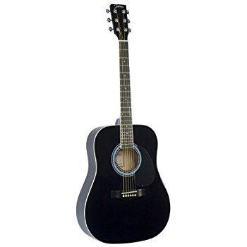 Johnson Dreadnought Acoustic Guitar - Black