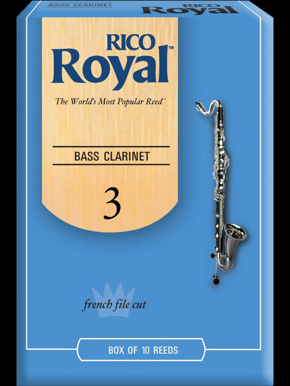 Rico Royal Bass Clarinet Reeds Box 10