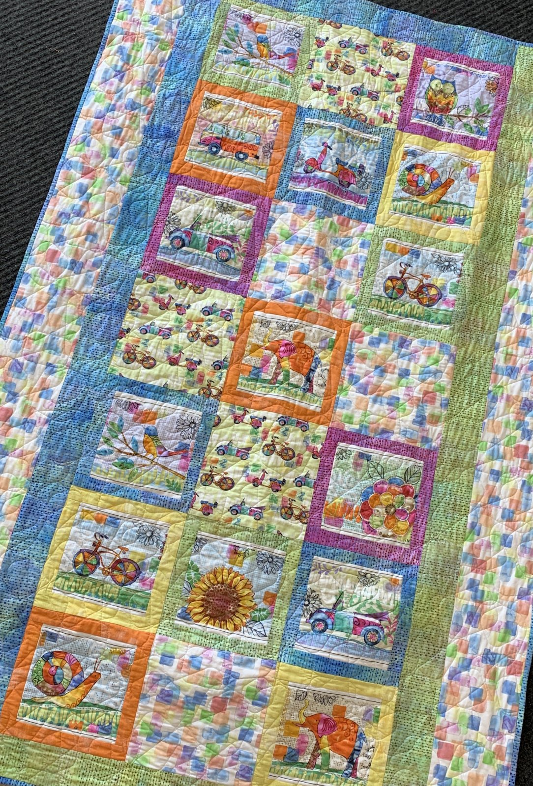 Color My World Quilt 43x49