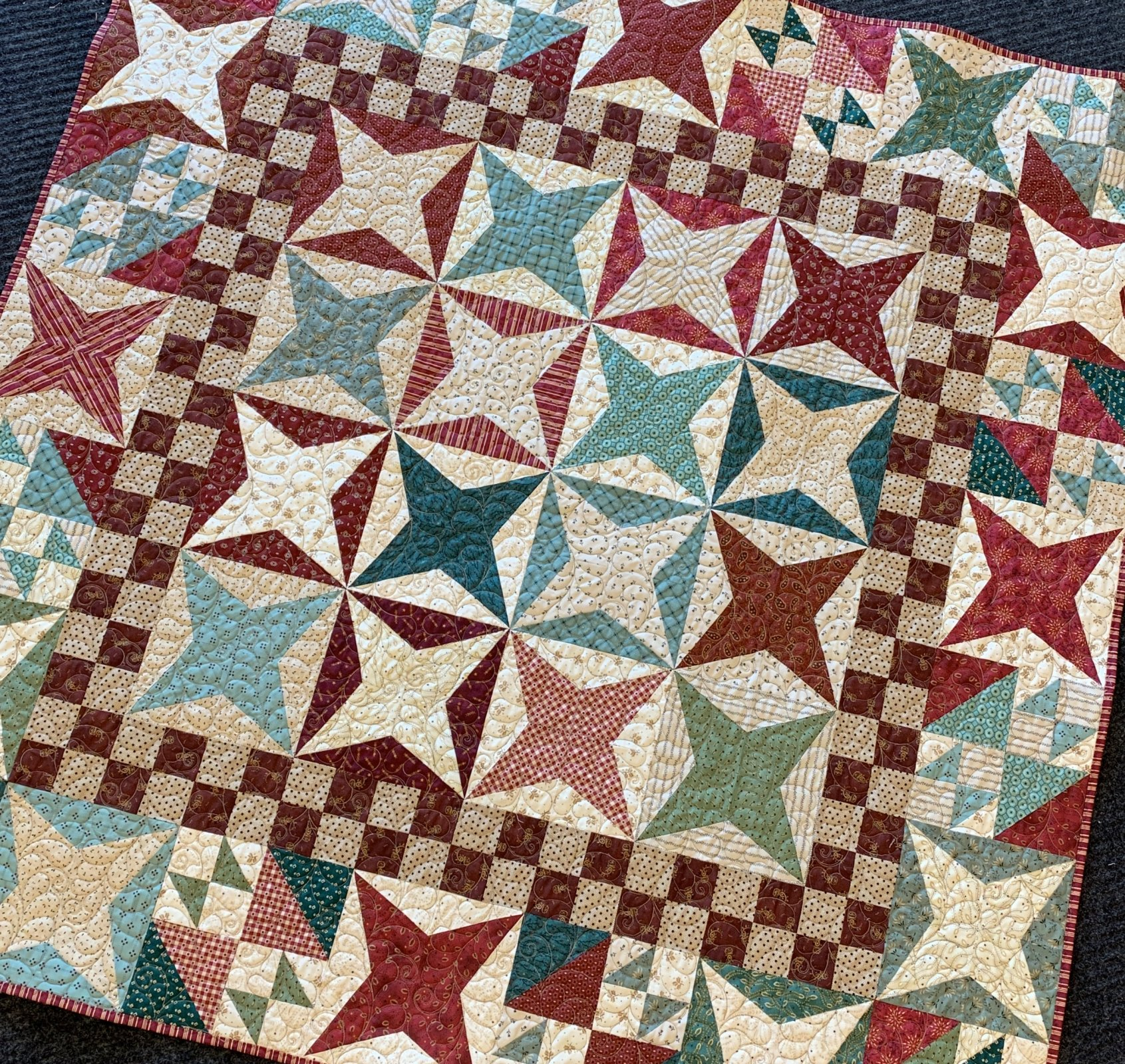 Liberty Star Memorable Times Quilt 56.5x56.5