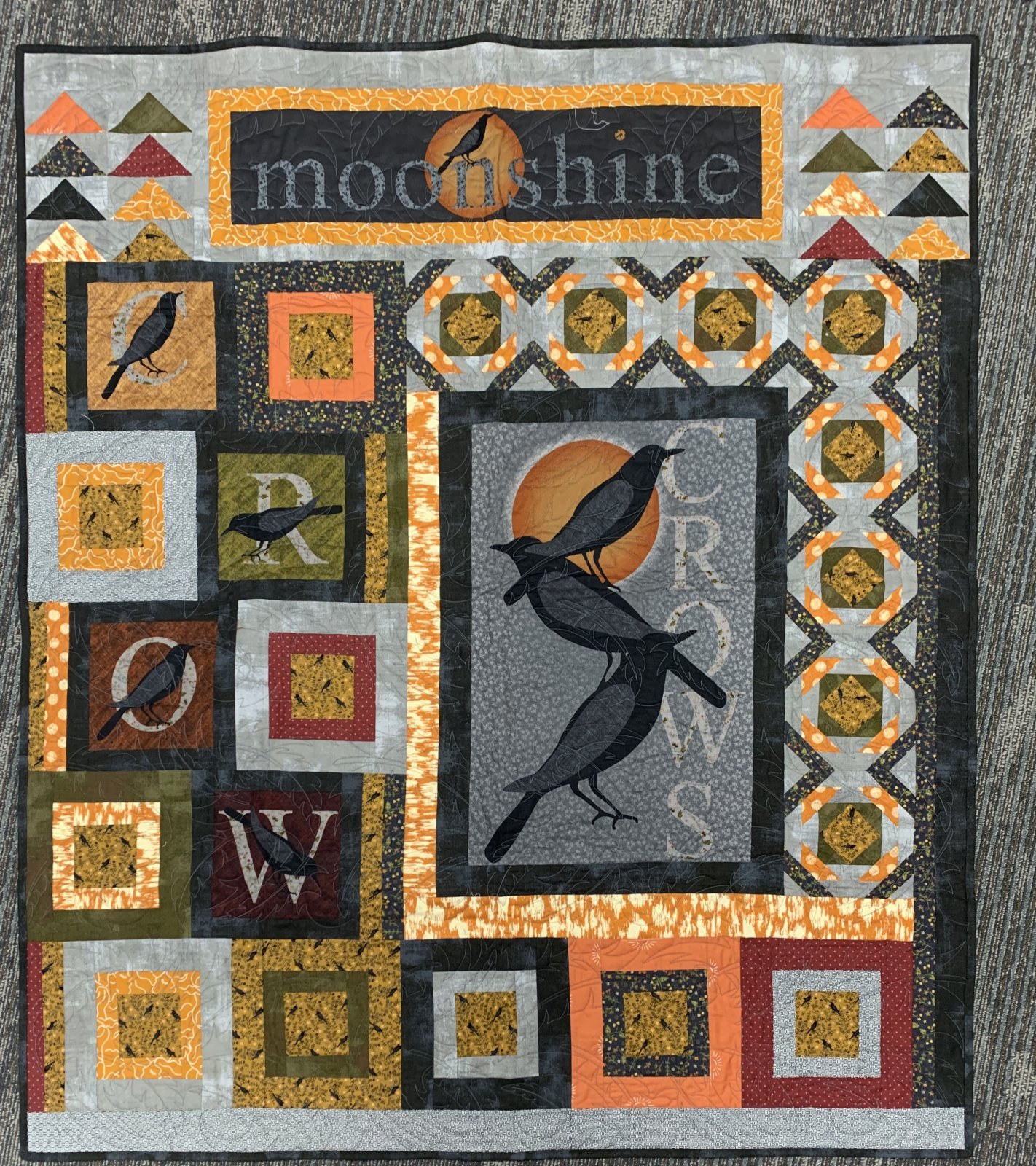 Moonshine & Crows Quilt Kit 45x52