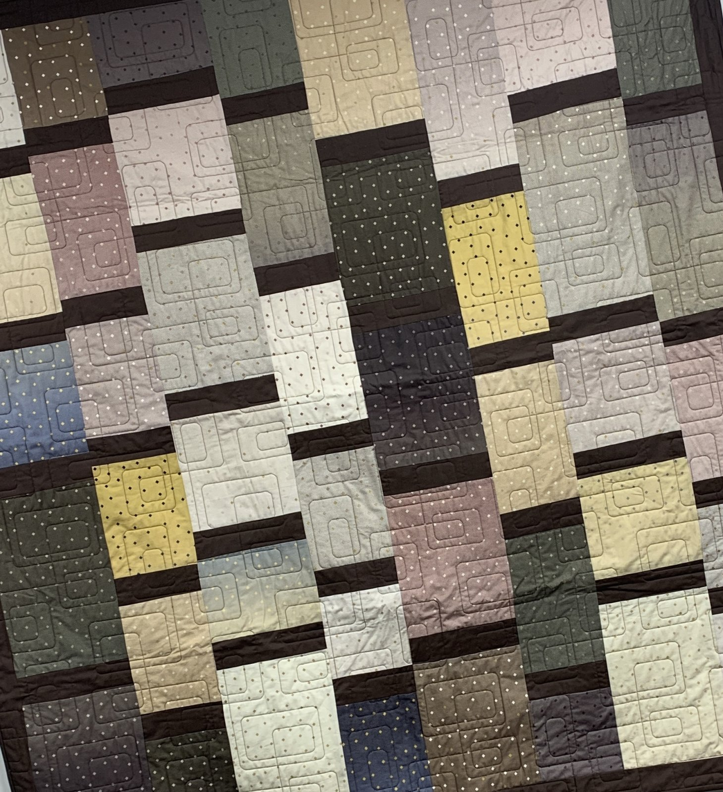 Ombre Gemstones Bars & Sashes Quilt