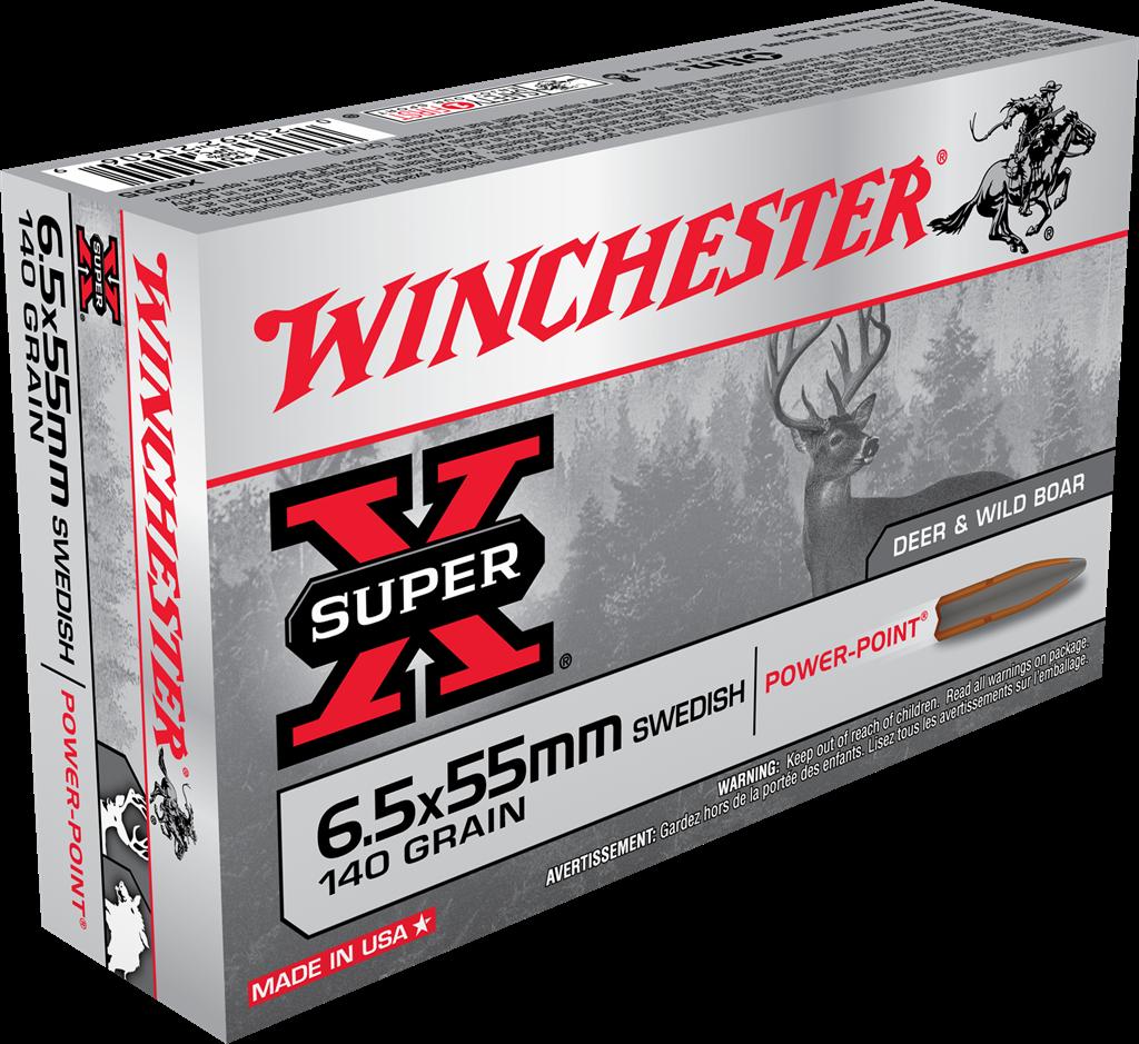 Winchester Super-X 6.5x55 140grns. SP 20rnds.