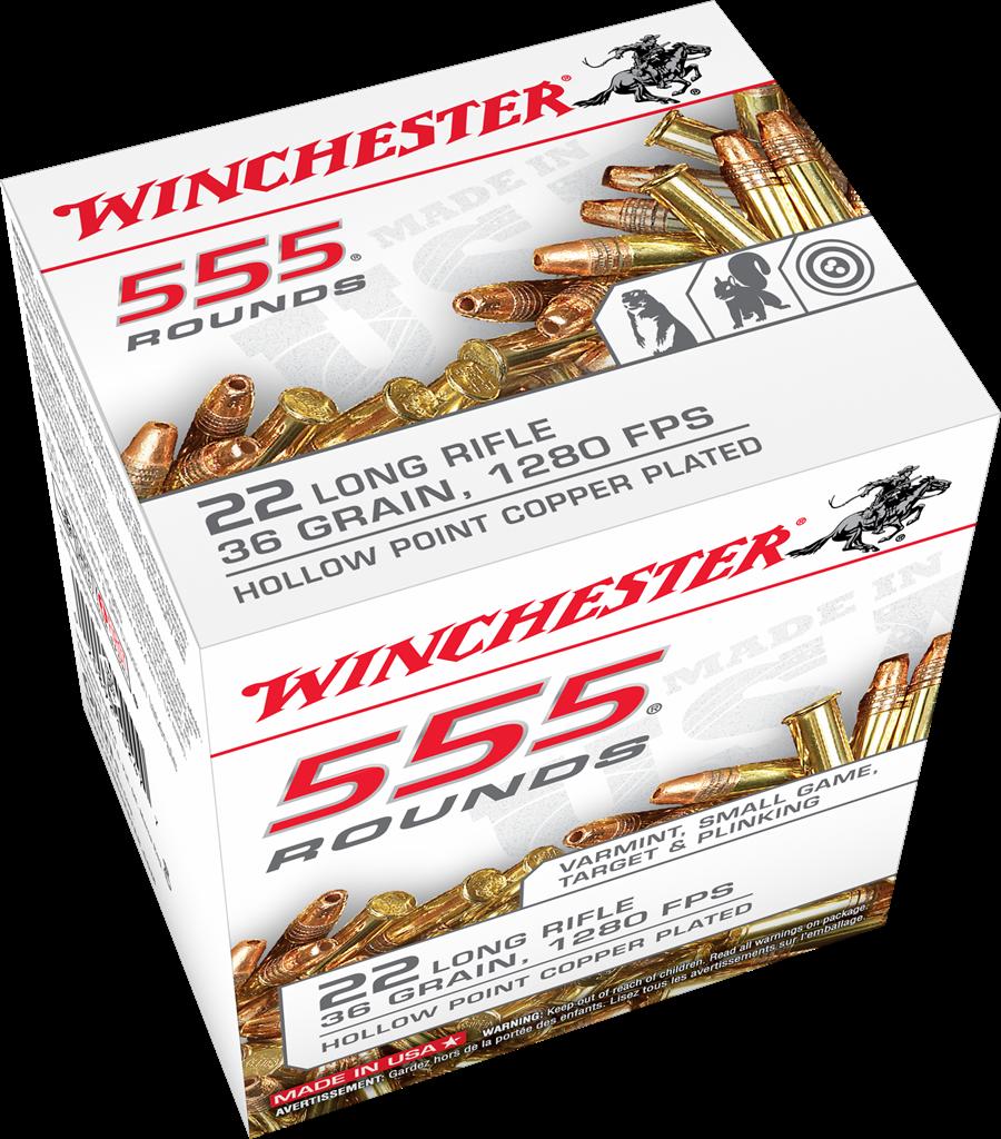 Winchester 22 LR 555rnd. CPHP